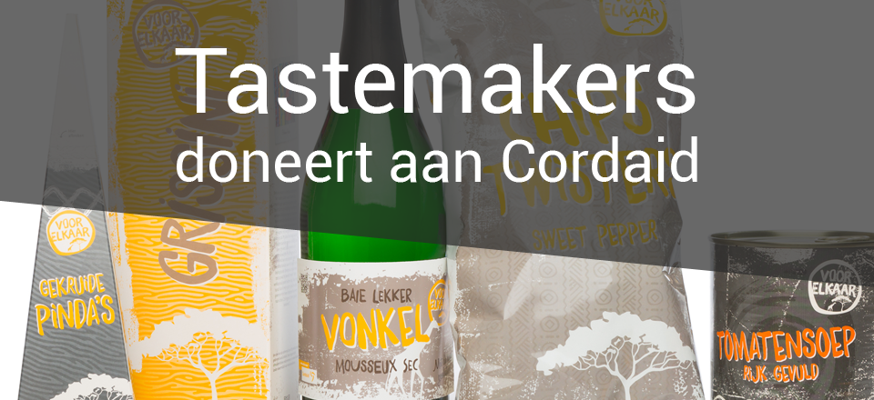 tastemakers doneert aan Cordaid